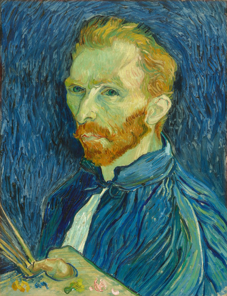 Vincent van Gogh (Dutch, 1853 - 1890 ), Self-Portrait, 1889, oil on canvas, Collection of Mr. and Mrs. John Hay Whitney