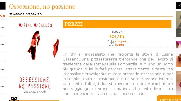 Ossessione  no passione   Youcanprint Libreria   Narrativa